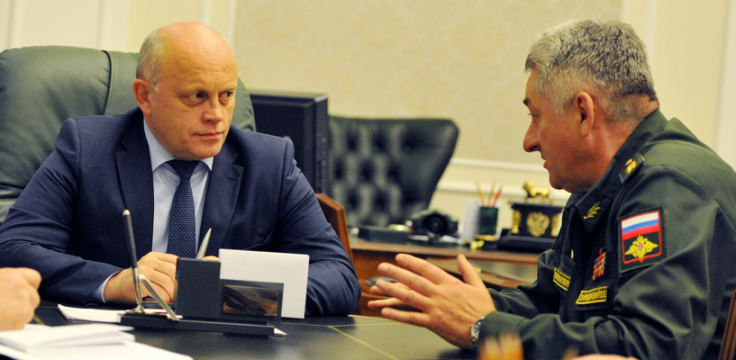 Назаров обсудил с военными роль мобилизации и снос казарм в Светлом