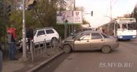 На Красном пути у «Аграрного университета» в Омске столкнулись три авто
