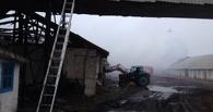 В Омской области сгорел ангар с запасами ячменя