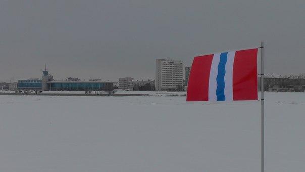 Омские студенты отметили географический центр города