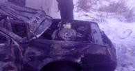 Ночью в Омске взорвался автомобиль из-за газовой плитки (фото)