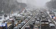 Сегодня в Омске зафиксирована пробка длиной в восемь километров
