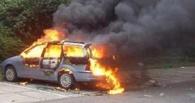 В Омске у «Маяк Молла» загорелся автомобиль