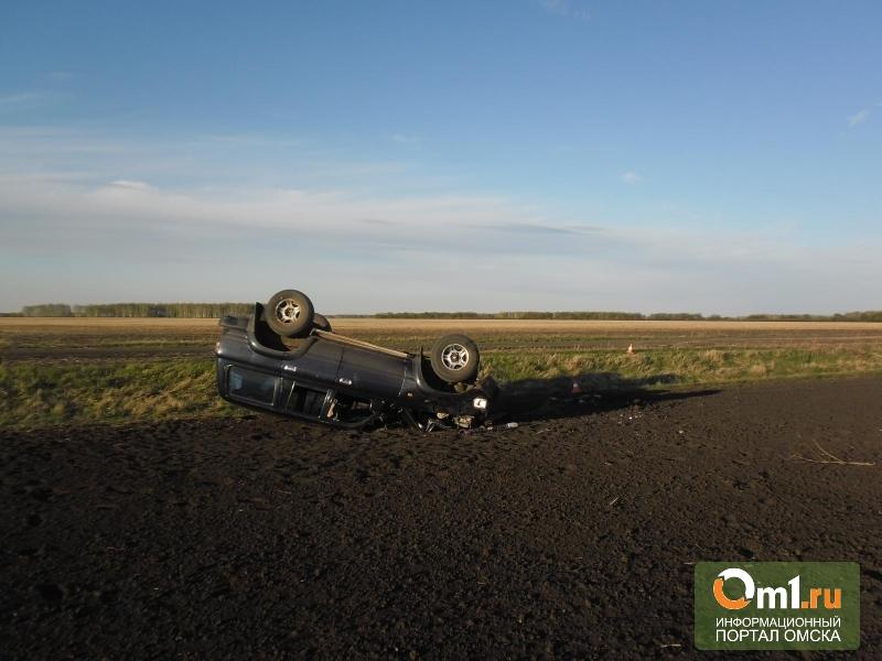 В Омской области пьяный водитель перевернулся на джипе. Пострадал ребенок