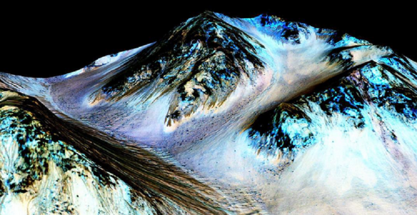 Ученые нашли на Марсе воду: на Красной планете текут соленые ручьи