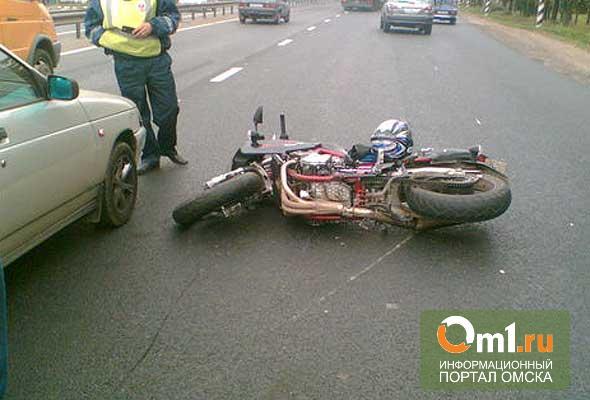 В Омске мотоцикл врезался в «копейку»