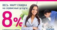 Новая сервисная акция «Только для женщин на Hyundai»