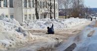 Омским школам и вузам велели посыпать дорожки песком