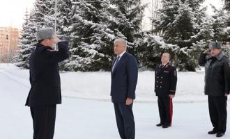 Во время визита в Омск Колокольцев посетил академию МВД