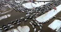 Пробки в Омске: скорость движения по проспекту Маркса – 3 км/ч