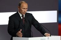Владимир Путин выступает с посланием Федеральному Cобранию по Крыму