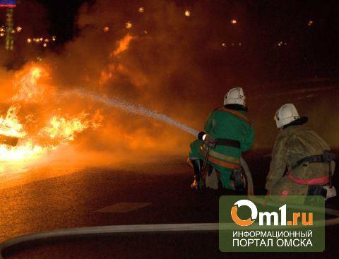В Омской области на трассе вспыхнула Toyota Rav4