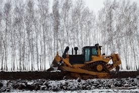 Омская окружная дорога начинает обзаводиться собственным земляным валом