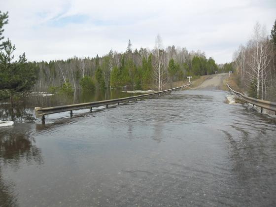 Затопленную трассу «Омск – Муромцево» частично открыли для движения