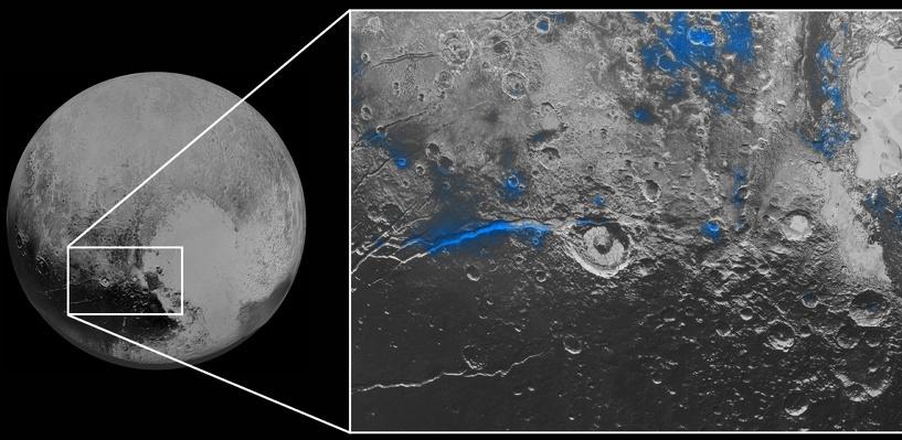 Космический зонд сфотографировал на Плутоне голубое небо и красный лед