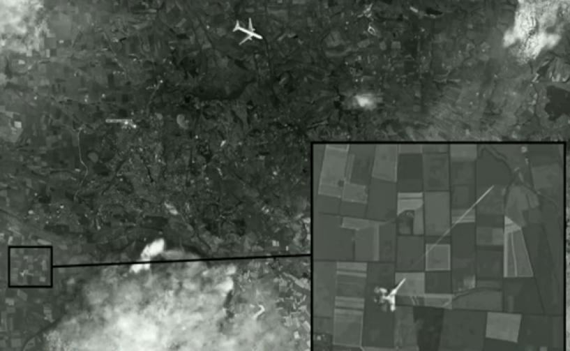 «Первый канал» показал спутниковый снимок атаки на малайзийский Boeing под Донецком