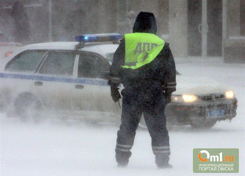Из-за автоледи на трассе «Омск – Тюмень» разбился патрульный автомобиль
