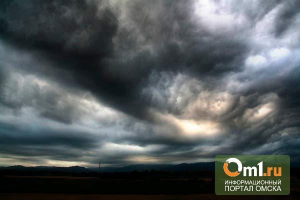 В Омске ухудшаются погодные условия: гроза, ливни, град