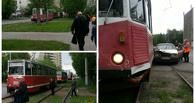 ДТП в Омске парализовало движение трамваев