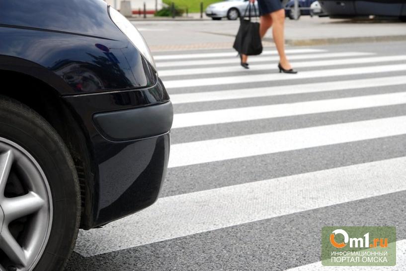 В Омске 19-летний водитель ВАЗа сбил женщину на «зебре»