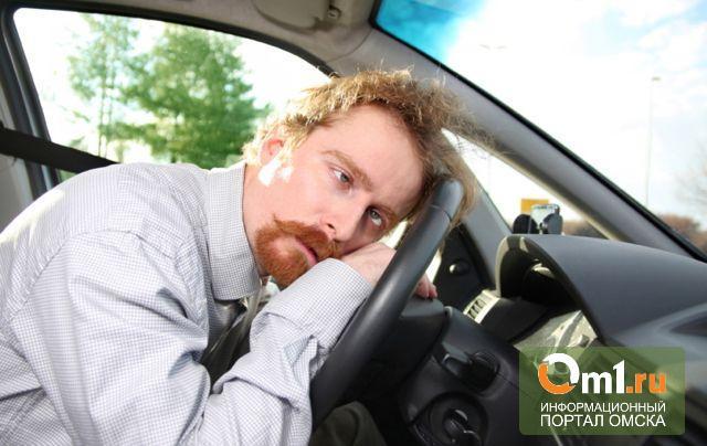 В Омске водитель маршрутки попался ДПС с похмелья