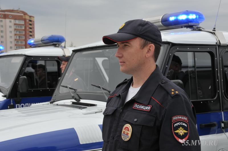 Омские полицейские отметили годовщину патрульно-постовой службы