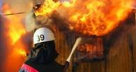 В Омской области спасатели вынесли из горящего дома двоих детей
