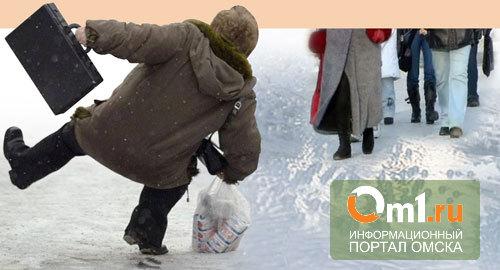 За время гололеда в Омске в больницы обратились 2 000 омичей