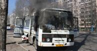 В Омске снова cгорел автобус