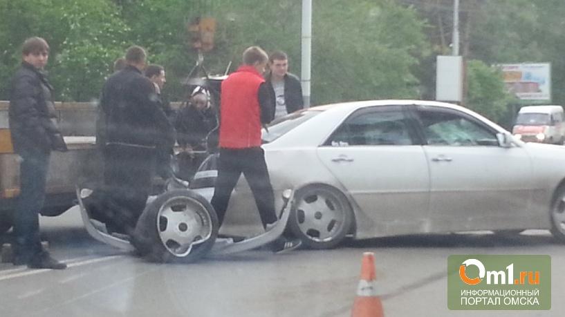 Омский дрифтер спровоцировал столкновение трех автомобилей