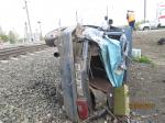 Тепловоз протаранил «восьмерку» под Омском: водитель в тяжелом состоянии