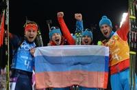 Олимпиада-2014, день пятнадцатый: российские биатлонисты выиграли золото в эстафете