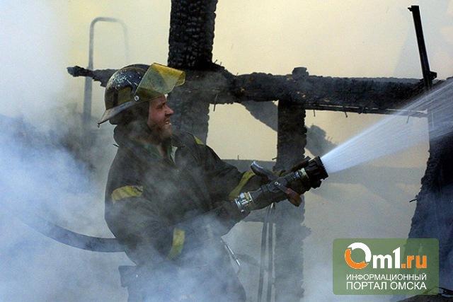 В Омске из-за пожара на Малиновского пострадала женщина