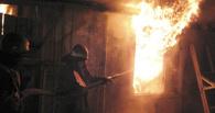 В Омске ночью сгорела баня при спортивной базе