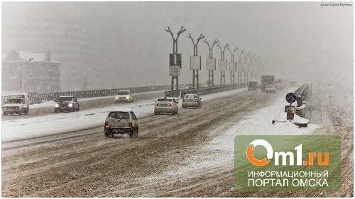 Снег на улицах Омска убирали 245 машин