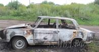 В Омской области двое мужчин угнали и сожгли автомобиль