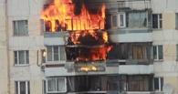 В Омске потушили пожар в многоэтажке
