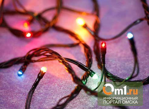 В Омской области с новогодней ели украли гирлянду
