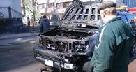 В Омске сгорел джип за 2 млн рублей