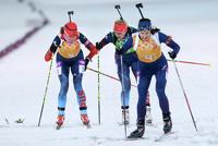 Российские биатлонистки завоевали олимпийскую медаль в эстафете