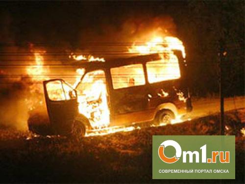 В центре Омска сгорела пассажирская «ГАЗель»