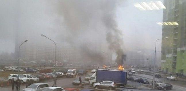 В Санкт-Петербурге неизвестные расстреляли автомобиль полицейских
