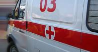 Subaru Impreza влетела в «скорую помощь» в центре Омска