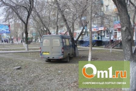 В Омске напротив «Эгоиста» маршрутка сбила семейную пару на тротуаре