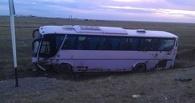 На трассе в Казахстане перевернулся автобус «Боровое-Омск»