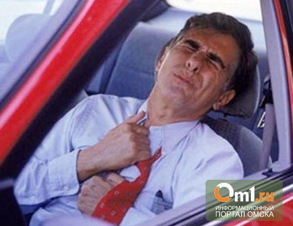 В Омской области дед на «копейке» перенес сердечный приступ за рулем