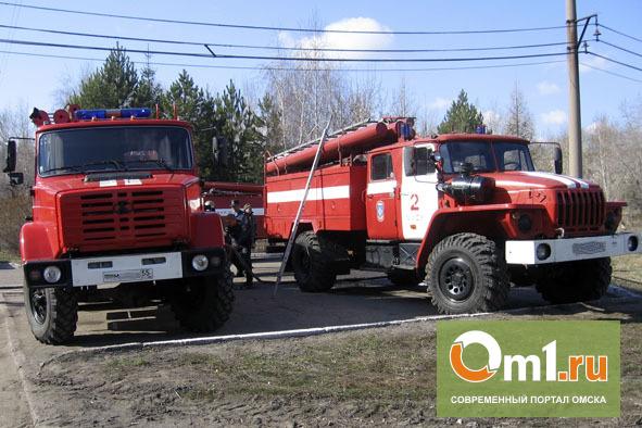 В Омске горит Нефтезавод