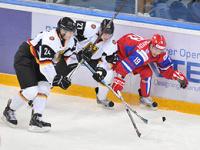 Российские хоккеисты разгромили немцев на молодежном ЧМ по хоккею