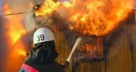 Огонь в садоводческом товариществе в Омске тушили 15 пожарных