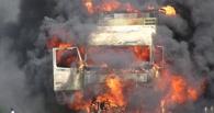 В Омске сгорел «КамАЗ» с якутскими номерами